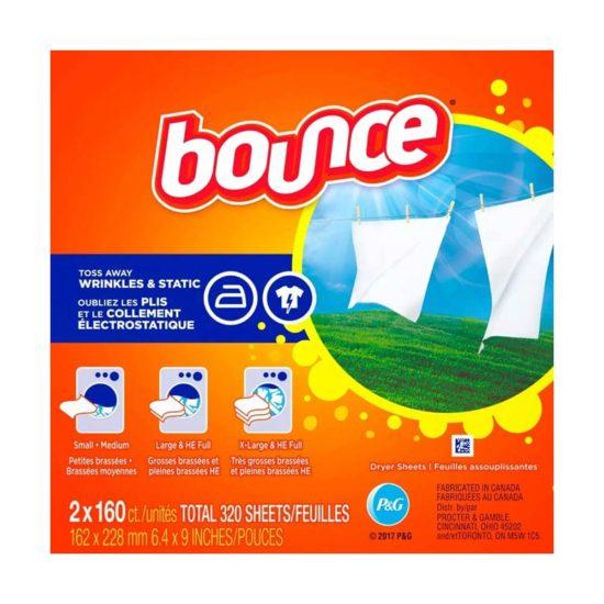 Bounce, hoja de secado con suavizante (160 ct.)