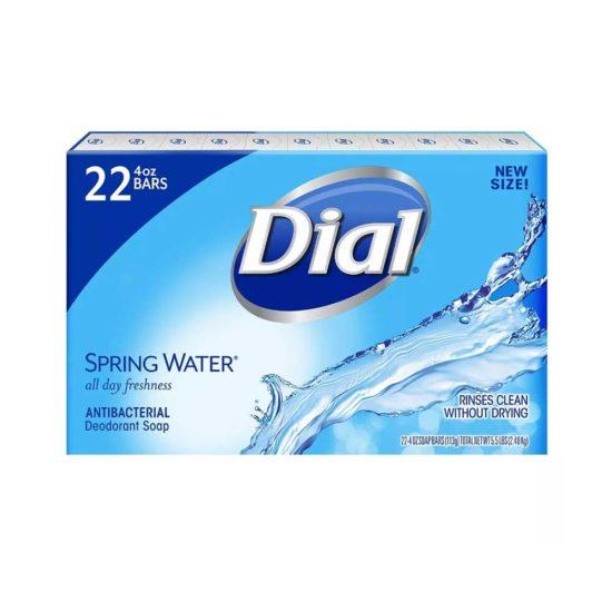 Caja Dial, jabón desodorante antibacterial, agua de manantial (4.0 oz., 22 ct.)