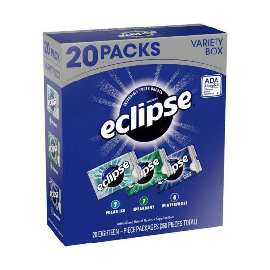Caja Eclipse Goma de Mascar Sin Azucar - Variada (20 ct)