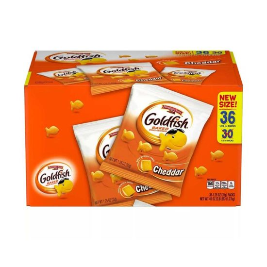 Caja Pepperidge Farm Goldfish, Galletas de Queso Cheddar (36 ct. 1.27 Kg.)