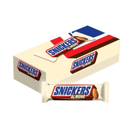 Caja Snickers, Barras de chocolate con Almendras (24 ct.1.76 oz. c/u)