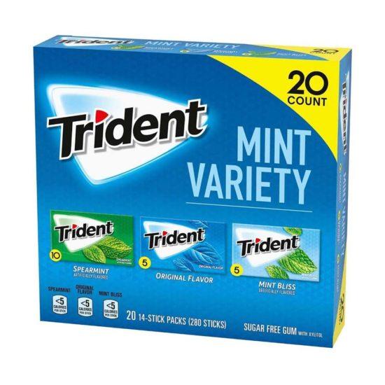 Caja Trident Mint Variado Libre de Azucar (20 ct.)