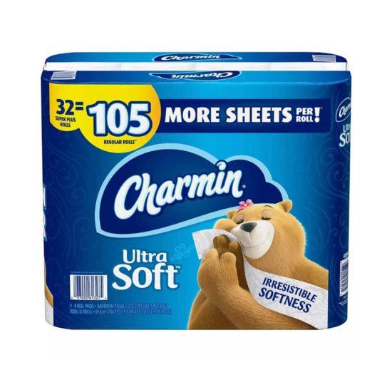 Charmin, Papel Higienico Ultra Suave (32 ct. 218 hojas por Rollo).