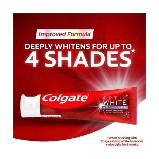 Colgate, Optic White Pasta Dental Blanqueadora Blanco Brillante (4.2 oz. 119 gr. c/u)