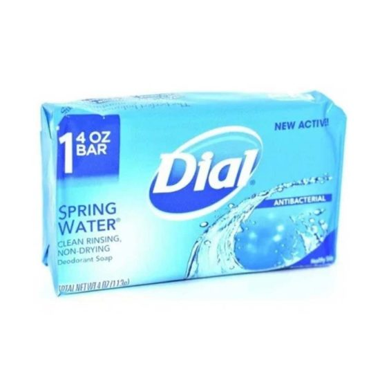 Dial, jabón desodorante antibacterial, agua de manantial (4 oz.)
