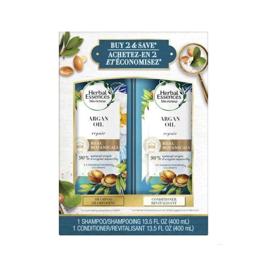 Herbal Essences Bio, Renovador con Aceite de Argan Shampoo & Acondicionador (2 ct. 13.5 oz. 400 ml c/u)