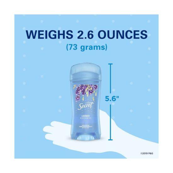 Secret, Gel antitranspirante, lavanda (2.6 oz.)