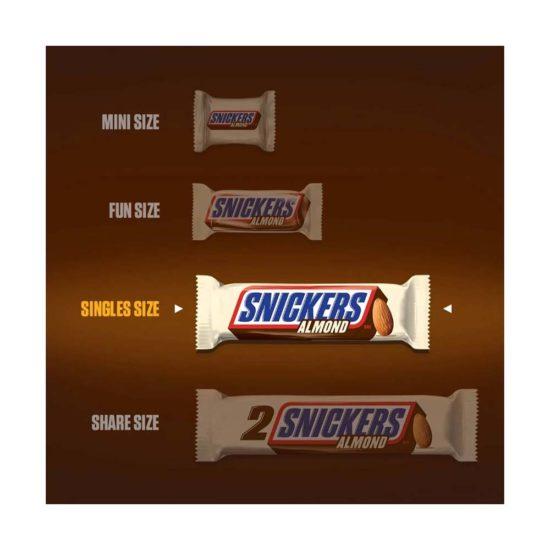 Snickers, Barras de chocolate con Almendras (1.76 oz.)