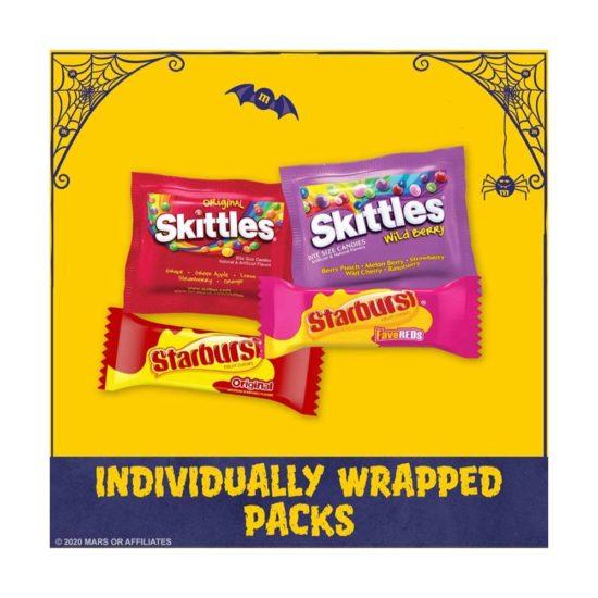 Skittles y Starburst Caramelos de frutas variado (1.8 oz y 2.07 oz)