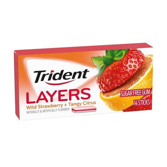 Trident Layers fresa & Citrus Libre de Azucar (14 ct.)